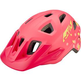 MET Eldar Helm Kinder coral pink polka dots